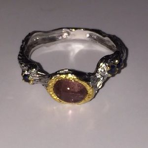 Natural Tourmaline Ring Sz 7.75